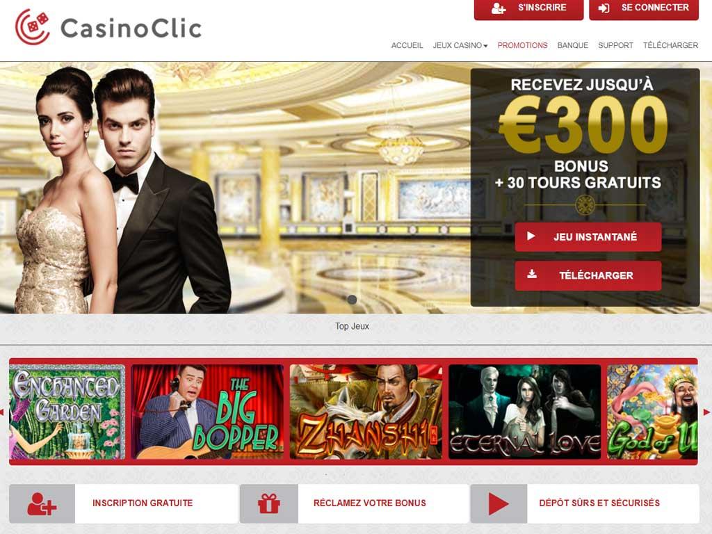 Avis Clic casino : critique casino en ligne